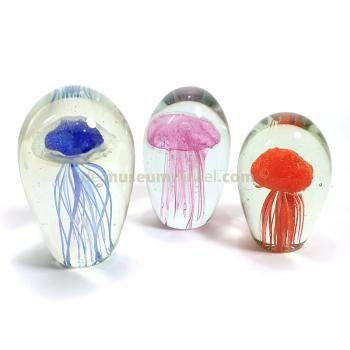 Glass jellyfish red (small)