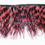 Feather garland Common ostrich - black/red
