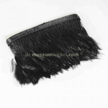 Feather garland Rooster - black