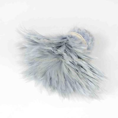 Feather garland Rooster - gray
